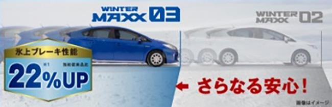 氷上ブレーキ性能22%UP